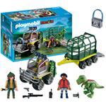 פליימוביל דינוזאורים PLAYMOBIL Transport Vehicle with Baby T-Rex 5236