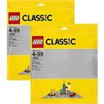 מבצע: 2 יחידות לגו מגה סטור קלאסיק 2-LEGO 48x48 (38x38cm) Grey Baseplate 10701