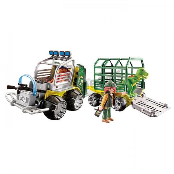 פליימוביל דינוזאורים PLAYMOBIL Transport Vehicle with Baby T-Rex 5236
