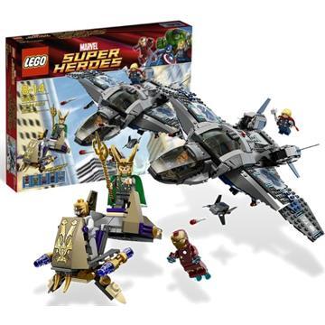 לגו גיבורי על LEGO Quinjet Aerial Battle 6869