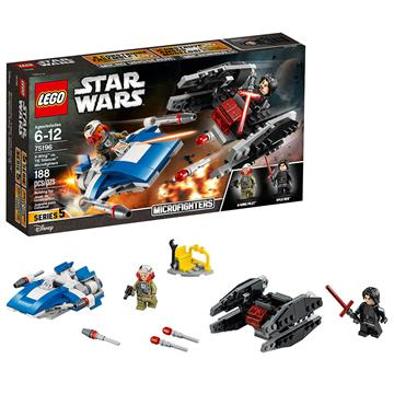 לגו מלחמת הכוכבים LEGO A-Wing vs. TIE Silencer Microfighters 75196