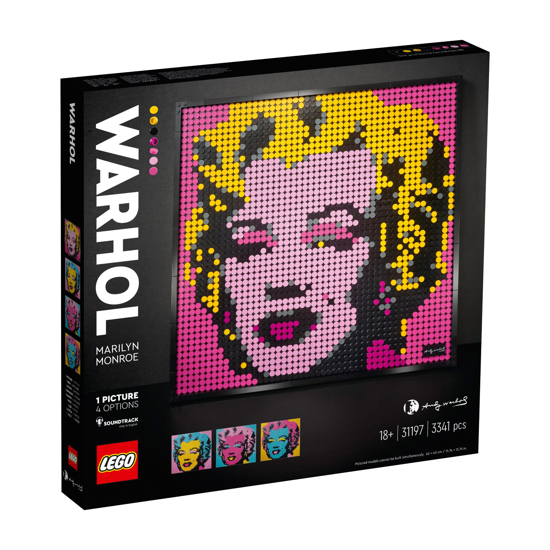 לגו מגה סטור ART 31197 LEGO Andy Warhol