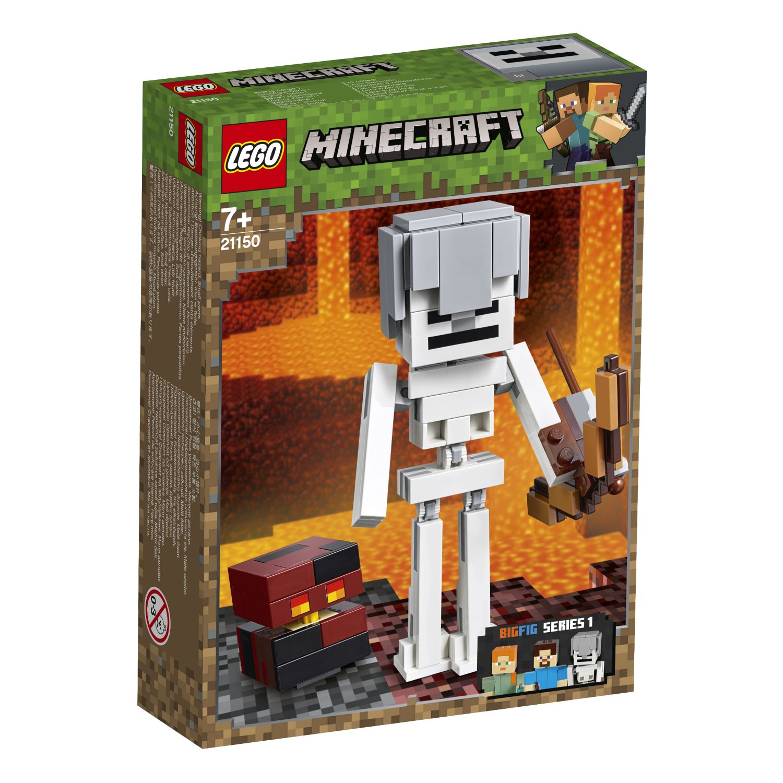 LEGO Minecraft Skeleton BigFig with Magma Cube 21150 לגו מגה סטור Minecraft