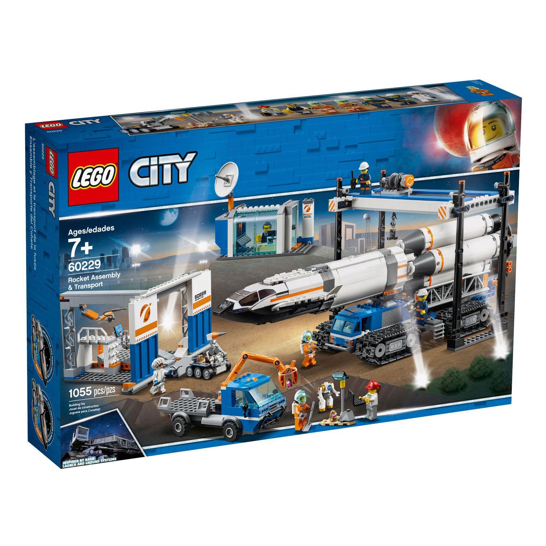 לגו מגה סטור סיטי LEGO Rocket Assembly & Transport 60229